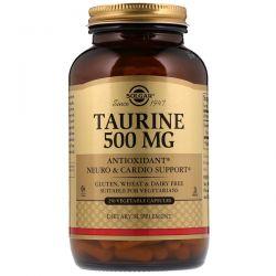 Solgar, Taurine, 500 mg, 250 Vegetable Capsules Zdrowie i Uroda