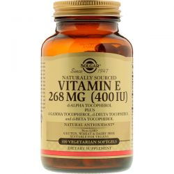 Solgar, Vitamin E, 268 mg (400 IU), 100 Vegetarian Softgels Zdrowie i Uroda