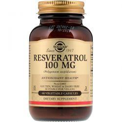 Solgar, Resveratrol, 100 mg, 60 Vegetable Capsules Zdrowie i Uroda