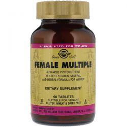 Solgar, Female Multiple, 60 Tablets Zdrowie i Uroda