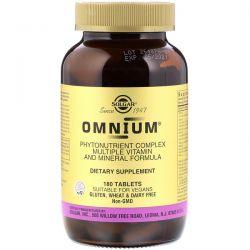 Solgar, Omnium, Phytonutrient Complex, Multiple Vitamin and Mineral Formula, 180 Tablets Zdrowie i Uroda