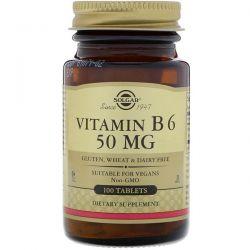 Solgar, Vitamin B6, 50 mg, 100 Tablets Zdrowie i Uroda