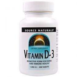 Source Naturals, Vitamin D-3, 1,000 IU, 200 Tablets Biografie, wspomnienia