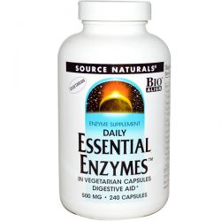Source Naturals, Vegetarian Daily Essential Enzymes, 500 mg, 240 Capsules Biografie, wspomnienia