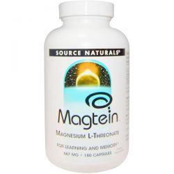 Source Naturals, Magtein, Magnesium L-Threonate, 667 mg, 180 Capsules Pozostałe