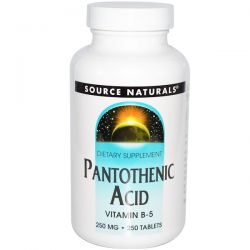Source Naturals, Pantothenic Acid, Vitamin B-5, 250 mg, 250 Tablets
