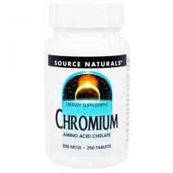 Source Naturals, Chromium, 200 mcg, 250 Tablets Biografie, wspomnienia