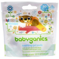 BabyGanics, Teething Gel Pods, 10 Single-Use Pods, 0.01 fl oz (0.3 ml) Each