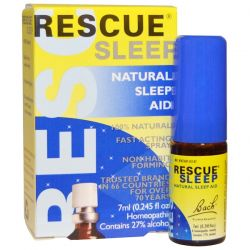 Bach, Original Flower Remedies, Rescue Sleep, Natural Sleep Aid Spray, 0.245 fl oz (7 ml) Biografie, wspomnienia