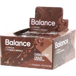 Balance Bar, Nutrition Bar, Chocolate Craze, 6 Bars, 1.76 oz (50 g) Each Pozostałe