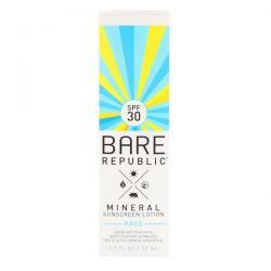 Bare Republic, Mineral Sunscreen Lotion, Face, SPF 30, 1.7 fl oz (50 ml) Pozostałe