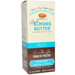 Barney Butter, Bare Almond Butter, On The Go Snack Packs, Smooth, 6 Packets, 0.6 oz (17 g) Each Biografie, wspomnienia