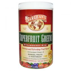 Barlean's, Superfruit Greens Supplement, Powder Formula, Strawberry-Kiwi, 9.52 oz (270 g)