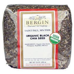 Bergin Fruit and Nut Company, Organic Black Chia Seed, 16 oz (454 g) Biografie, wspomnienia