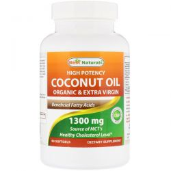 Best Naturals, High Potency Coconut Oil, Organic & Extra Virgin, 1300 mg, 90 Softgels Biografie, wspomnienia