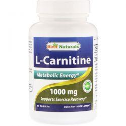 Best Naturals, L-Carnitine, 1000 mg, 60 Tablets Pozostałe