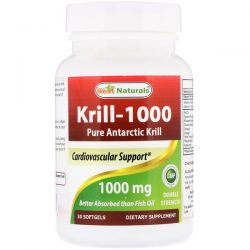 Best Naturals, Krill-1000, Pure Antarctic Krill, 1000 mg, 30 Softgels