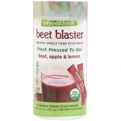 Beyond Fresh, Beet Blaster, Beet, Apple and Lemon, 14 Single Serve Stick Packs Biografie, wspomnienia