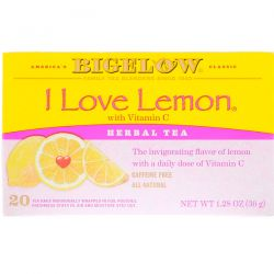 Bigelow, Herbal Tea, I Love Lemon with Vitamin C, Caffeine Free, 20 Tea Bags, 1.28 oz (36 g) Pozostałe