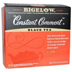 Bigelow, Black Tea, Constant Comment, 40 Tea Bags, 2.37 oz (67 g)