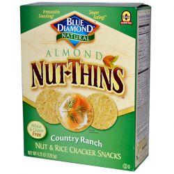 Blue Diamond, Almond Nut-Thins, Nut & Rice Cracker Snacks, Country Ranch, 4.25 oz (120.5 g)  Biografie, wspomnienia