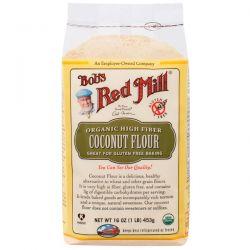 Bob's Red Mill, Organic High Fiber Coconut Flour, Gluten Free, 16 oz (453 g) Biografie, wspomnienia