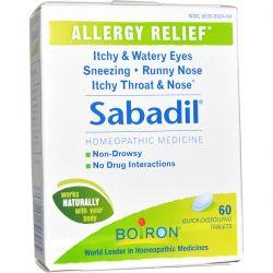 Boiron, Sabadil, 60 Quick-Dissolving Tablets Biografie, wspomnienia