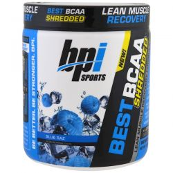 BPI Sports, Best BCAA Shredded, Lean Muscle Recovery Formula, Blue Raz, 9.7 oz (275 g)