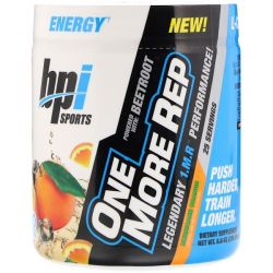 BPI Sports, One More Rep, Hurricane Orange, 8.8 oz (250 g) Biografie, wspomnienia
