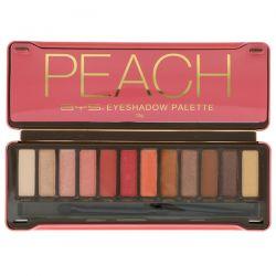 BYS, Peach, Eyeshadow Palette, 12 g
