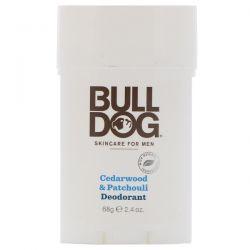Bulldog Skincare For Men, Cedarwood & Patchouli Deodorant, 2.4 oz (68 g)