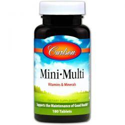 Carlson Labs, Mini-Multi, Vitamins & Minerals, Iron-Free, 180 Tablets Pozostałe