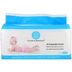 Charlie Banana, Disposable Inserts, Reusable Diapering System, 32 Inserts Biografie, wspomnienia