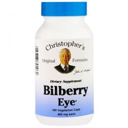 Christopher's Original Formulas, Bilberry Eye, 450 mg, 100 Veggie Caps Biografie, wspomnienia