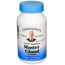 Christopher's Original Formulas, Master Gland Formula, 400 mg, 100 Veggie Caps