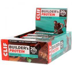 Clif Bar, Builder's Protein Bar, Chocolate Mint, 12 Bars, 2.40 oz (68 g) Each Pozostałe