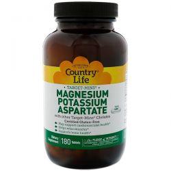 Country Life, Magnesium Potassium Aspartate, 180 Tablets Biografie, wspomnienia