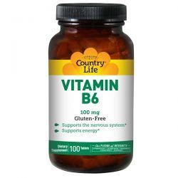 Country Life, Vitamin B6, 100 mg, 100 Tablets Biografie, wspomnienia