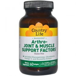 Country Life, Arthro - Joint & Muscle Support Factors, 60 Softgels Pozostałe