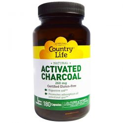 Country Life, Activated Charcoal, 260 mg, 180 Capsules Biografie, wspomnienia