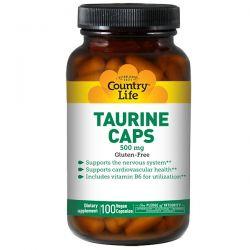 Country Life, Taurine Caps, 500 mg, 100 Vegan Caps Biografie, wspomnienia