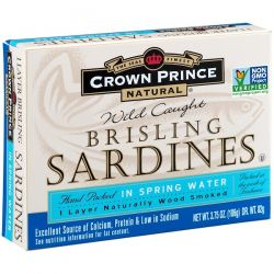 Crown Prince Natural, Brisling Sardines, In Spring Water, 3.75 oz (106 g) Biografie, wspomnienia