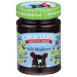 Crofter's Organic, Just Fruit Spread, Organic Wild Blueberry, 10 oz (283 g)