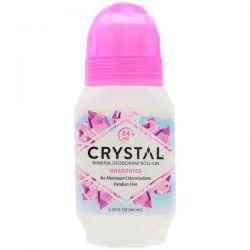 Crystal Body Deodorant, Mineral Deodorant Roll-On, Unscented , 2.25 fl oz (66 ml) Pozostałe
