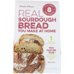 Cultures for Health, Real Sourdough Bread, Whole Wheat, 1 Packet, .14 oz (3.9 g) Zdrowie i Uroda