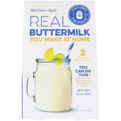 Cultures for Health, Real Buttermilk, Heirloom-Style, 2 Packets, .01 oz (0.4 g)