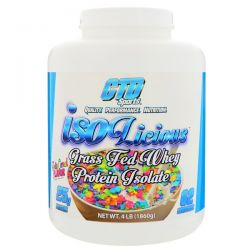 CTD Sports, Isolicious Grass Fed Whey Protein Isolate, Fruity Cereal Flavor, 4 lb (1860 g) Zdrowie i Uroda