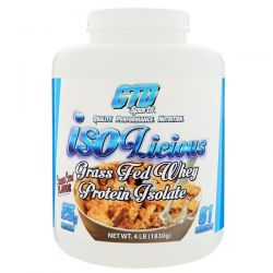CTD Sports, Isolicious Grass Fed Whey Protein Isolate, Cinnamon Cereal Flavor, 4 lb (1830 g) Zdrowie i Uroda