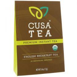 Cusa Tea, Organic, English Breakfast Tea, 10 Individual Servings, 0.04 oz (1.2 g) Each