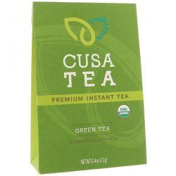 Cusa Tea, Organic, Green Tea, 10 Individual Servings, 0.04 oz (1.2 g) Each Zdrowie i Uroda